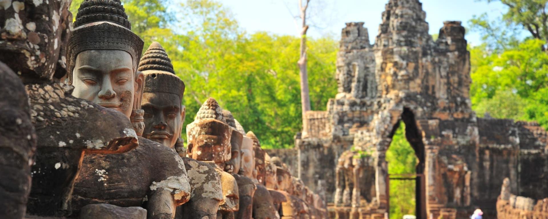 A la découverte d'Angkor à Siem Reap: Siem Reap Angkor Thom South Gate