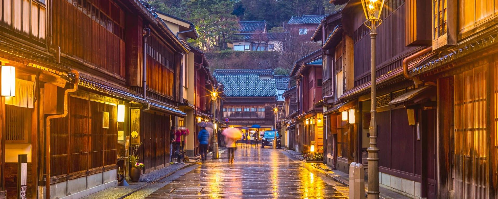 Les hauts lieux du Japon avec prolongation de Tokyo: Kanazawa Higashi Chaya District