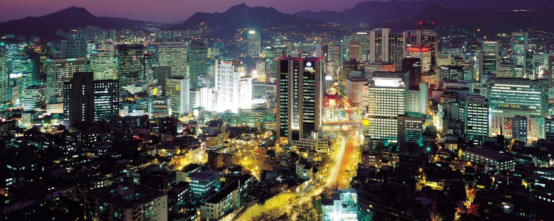 Wissenswertes zu Südkorea Reisen und Ferien: Seoul by night