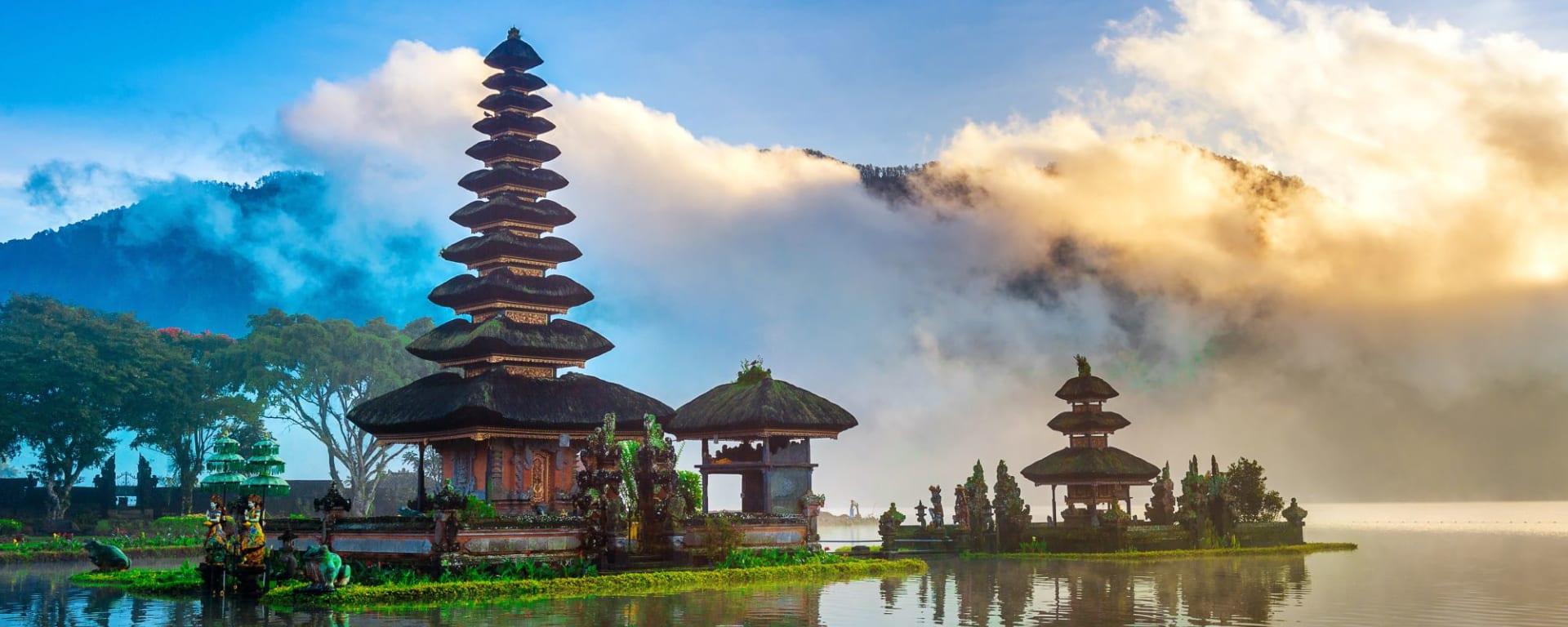 Les hauts lieux de Bali de Sud de Bali: Bali Pura Ulun Danu Bratan Temple