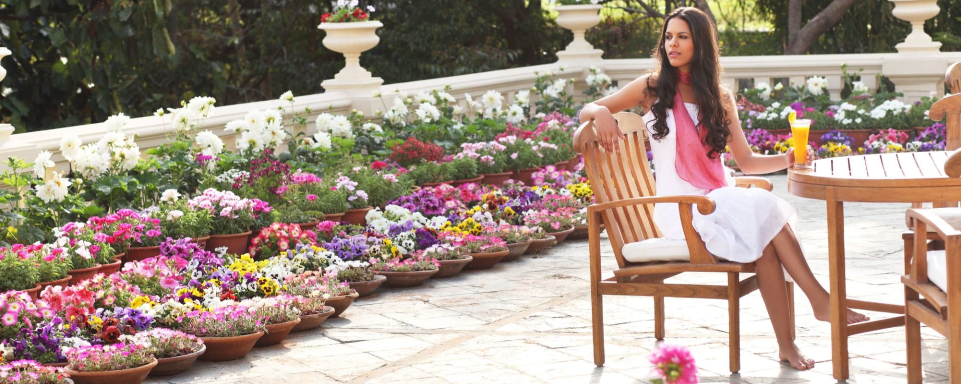 Ananda In The Himalayas in Rishikesh: Flower Gardens at Ananda