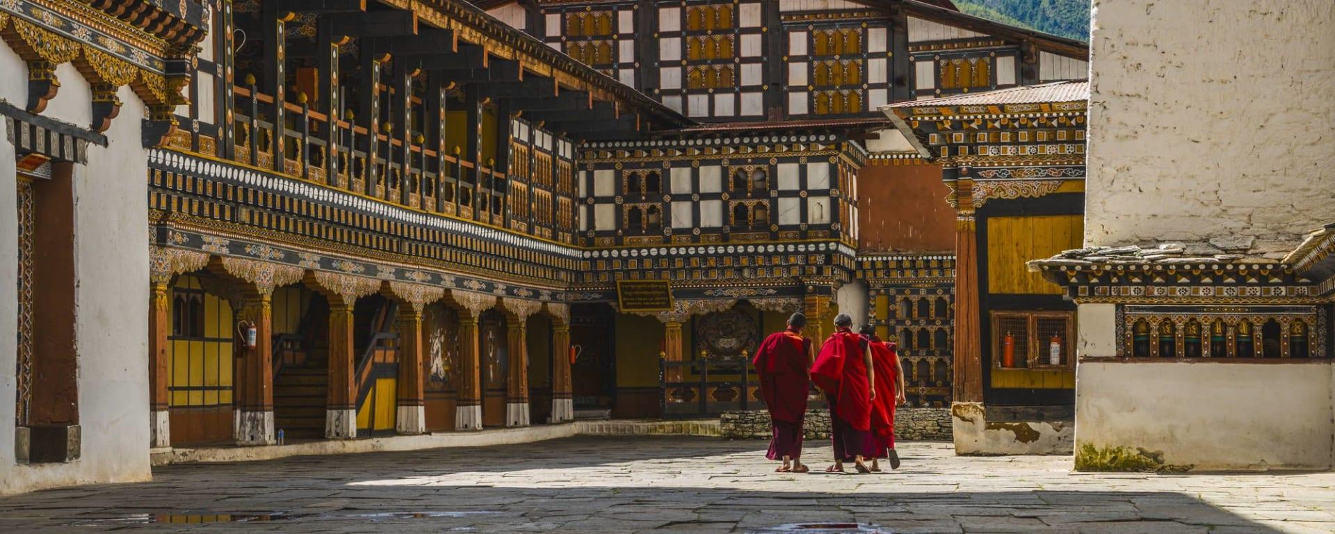 Wissenswertes zu Bhutan Reisen und Ferien: Paro Rinpung Dzong