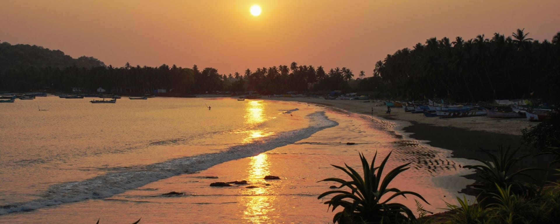 Ahilya by the Sea in Goa: Beach at Sunset
