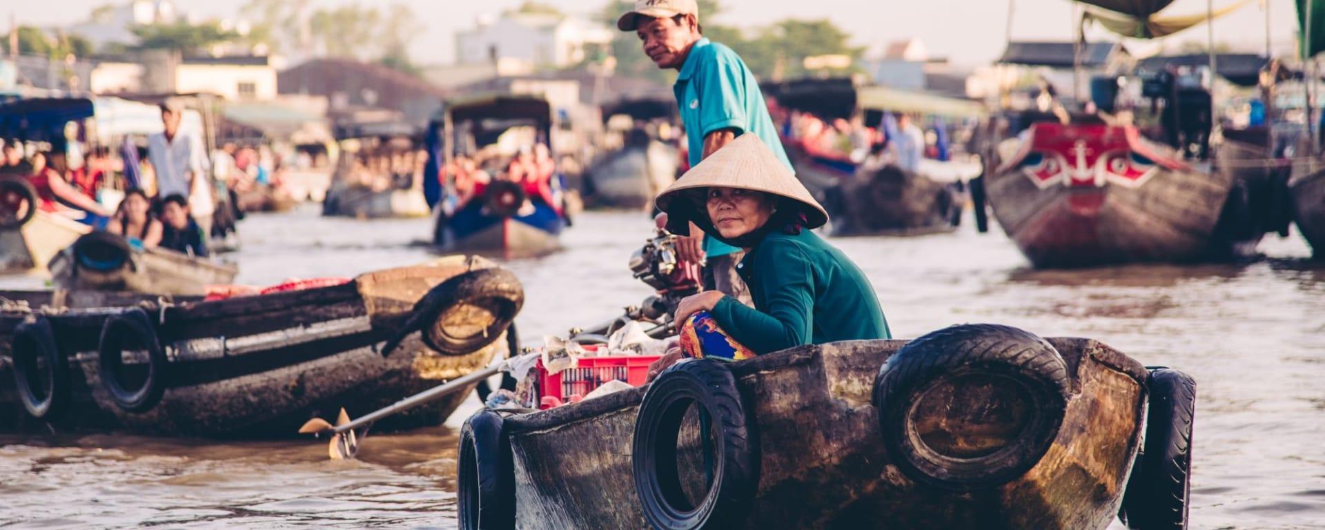 Le delta du Mékong - de/à Saigon: Mekong Delta Floating Market