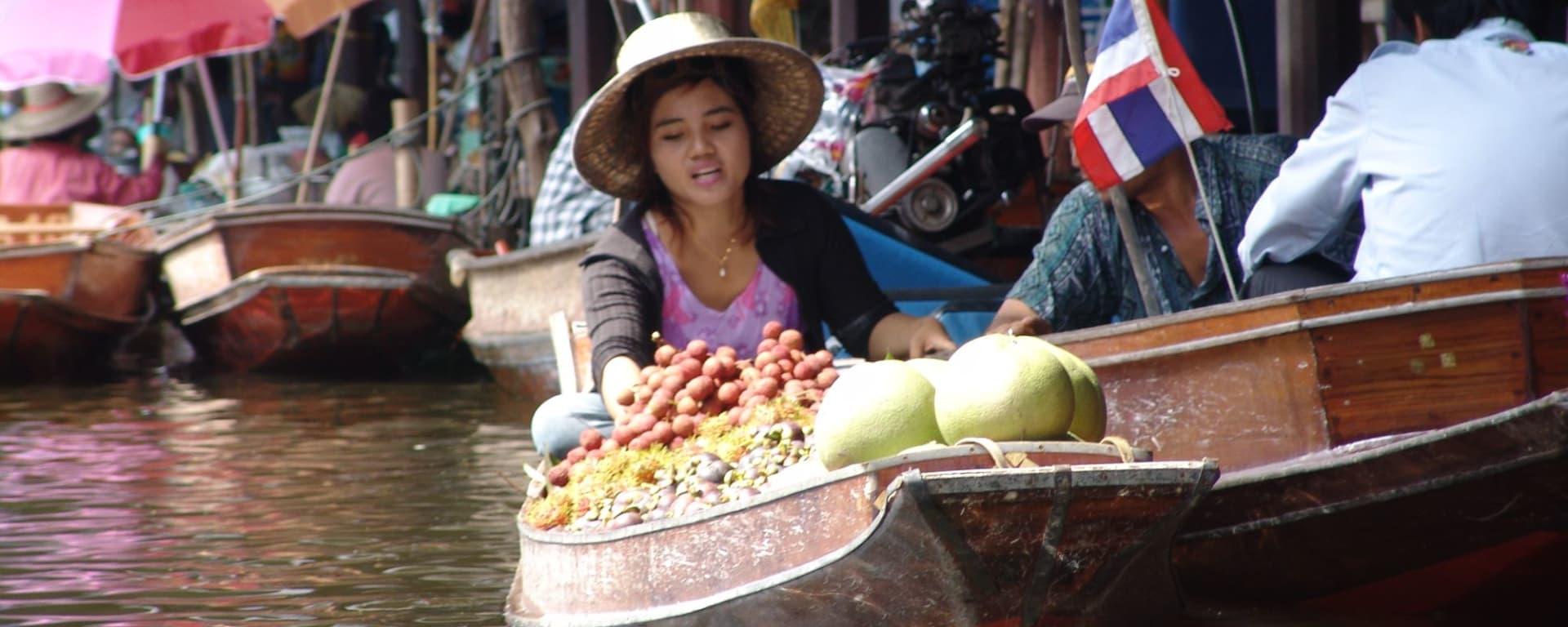 Bangkok à son gré / Journée entière ville et banlieue de Bangkok: Damnoen Saduak Floating Market