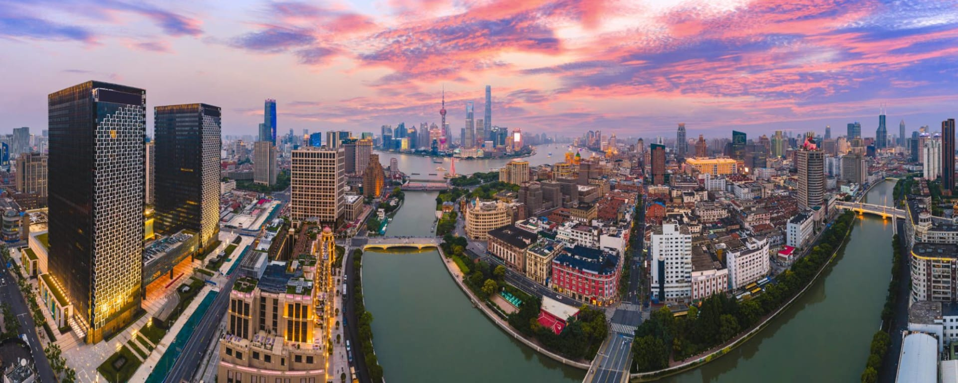 Tout savoir sur les voyages et les vacances en Chine: Shanghai at sunset