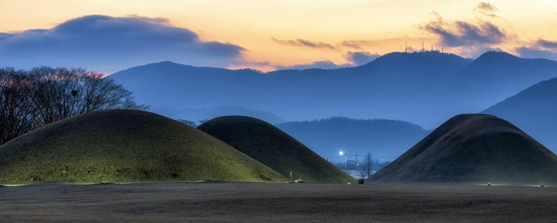 Corée du Sud compacte de Séoul: Naemul of silla royal king mound in gyeongju