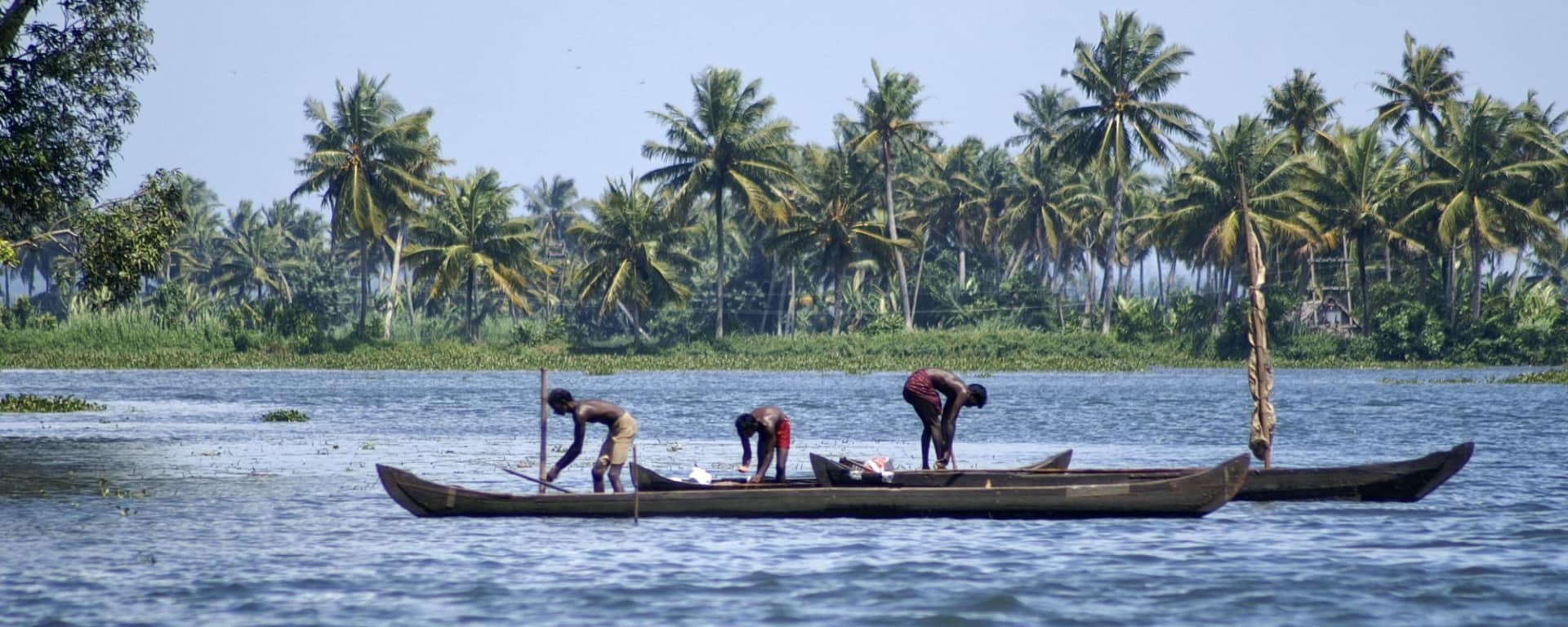 Backwaters von Kerala ab Kochi: Backwaters: Boatmen