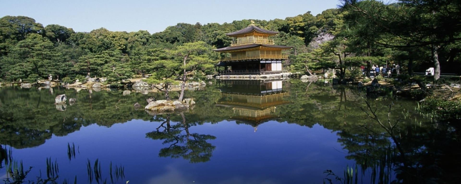 Stadtrundfahrt Kyoto - Morgentour: Kyoto Golden Pavilion Kinkakuji