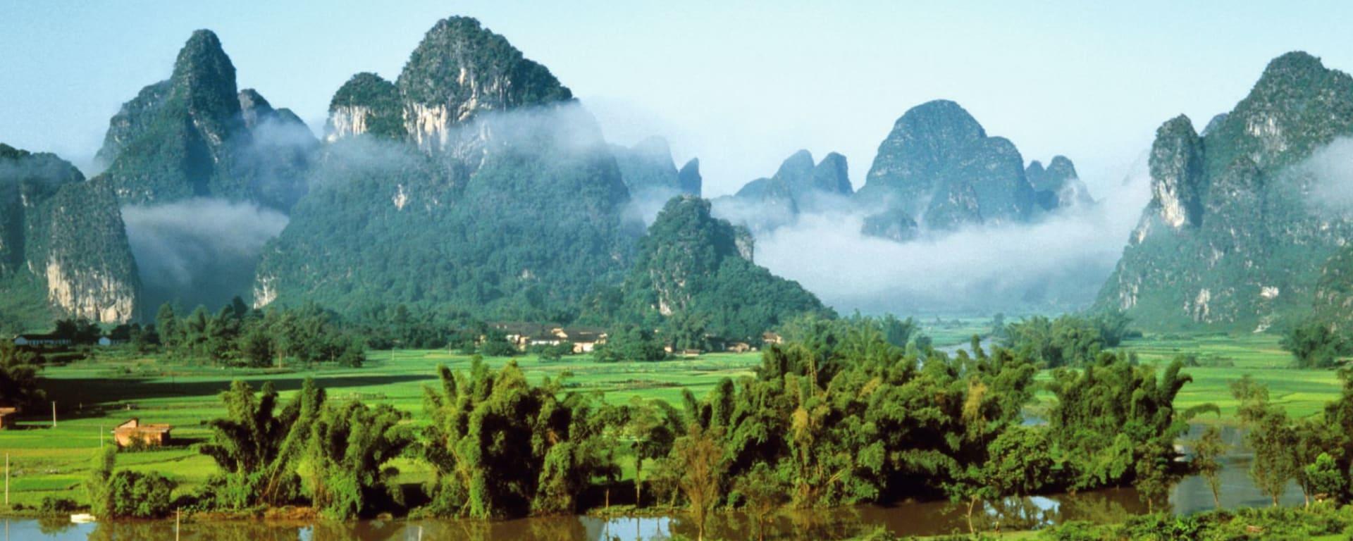 Rizières du cieletreliefs étranges de Guilin: Guilin: Landscapes