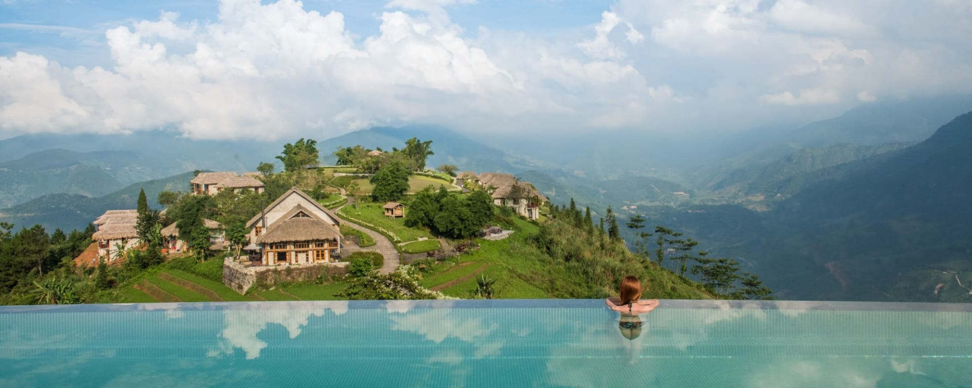 Abenteuer Sapa - Hiking Package ab Hanoi: Topas Ecolodge Pool