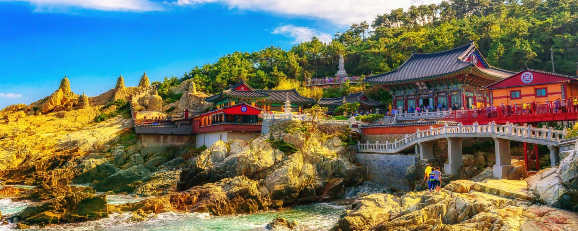 Corée du Sud compacte de Séoul: Haedong Yonggungsa Temple and Haeundae Sea in Busan