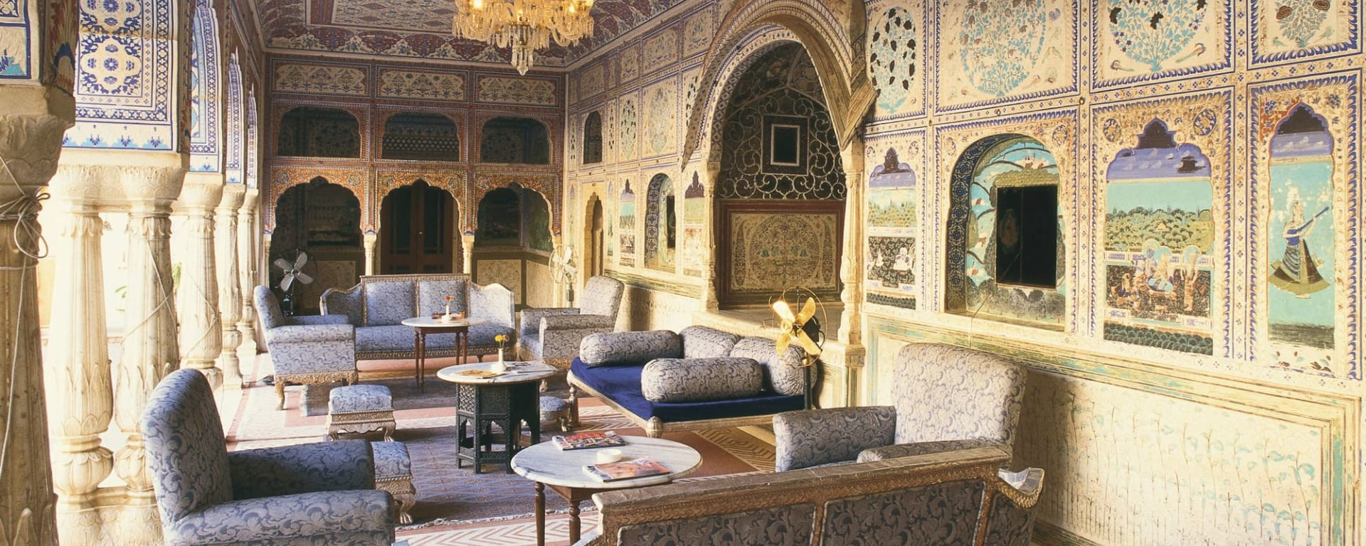 Samode Palace in Jaipur: Lounge