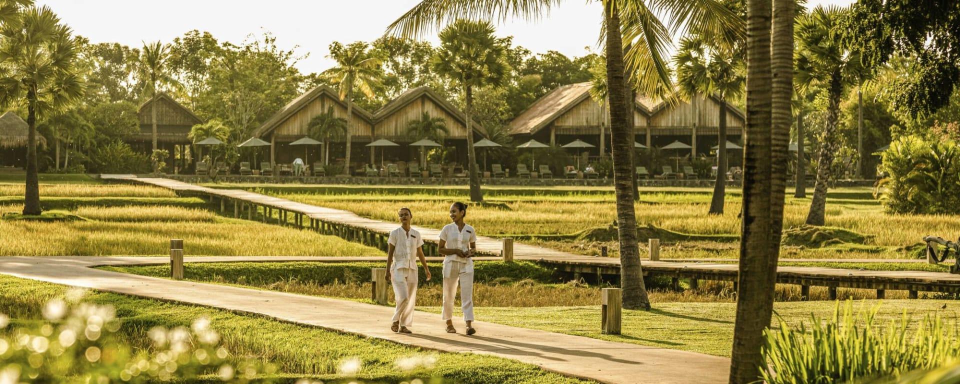 Phum Baitang in Siem Reap: Garden & Grounds