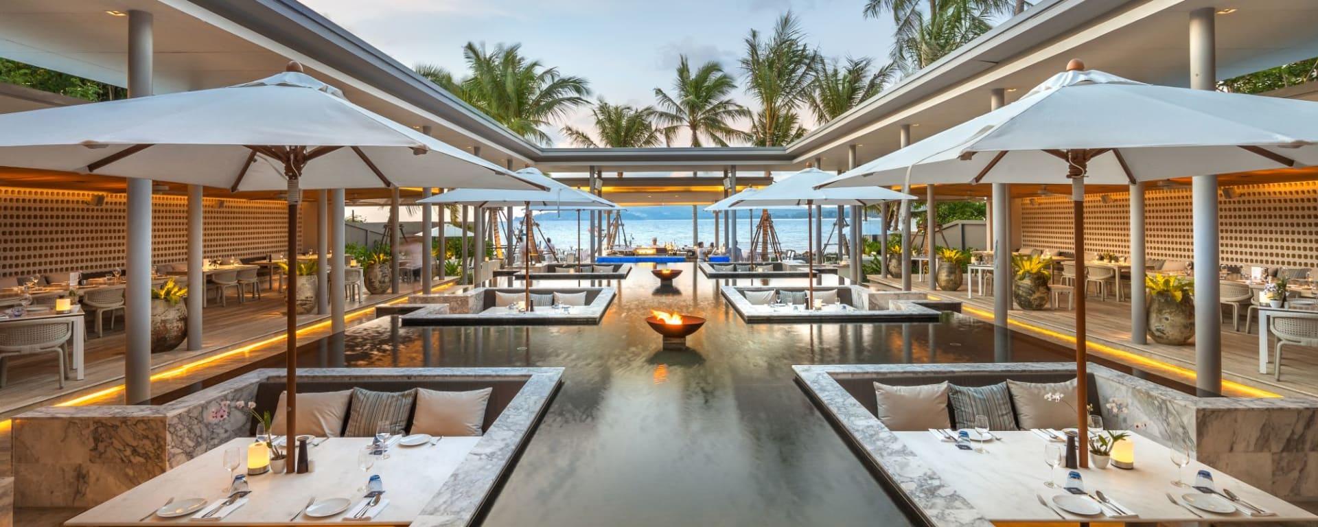 Twinpalms Phuket: Palm Seaside Restaurant Lounge & Bar