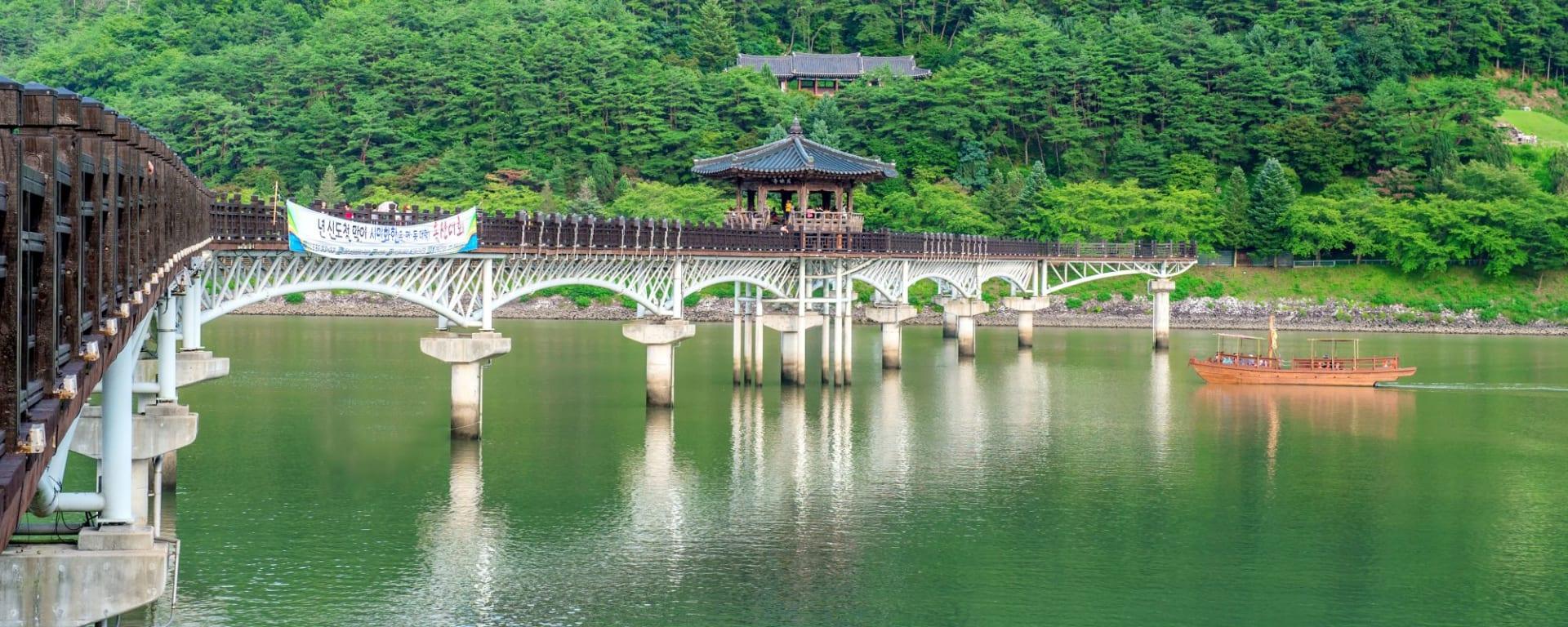 Grand circuit en voiture de location en Corée du sud de Séoul: Andong Wooden bridge or Wolyeonggyo bridge