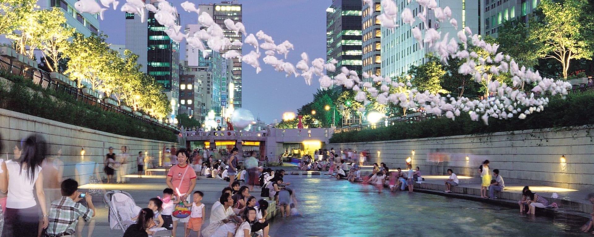 Wissenswertes zu Südkorea Reisen und Ferien: Seoul Cheonggyecheon