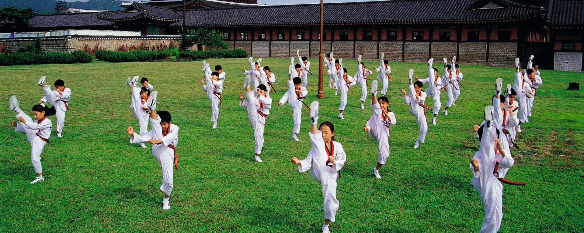 Découverte active de la Corée du Sud de Séoul: Taekwondo