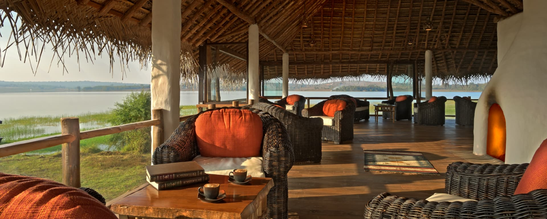 Evolve Back Kuruba Safari Lodge à Parc national de Nagarhole: Reading Lounge