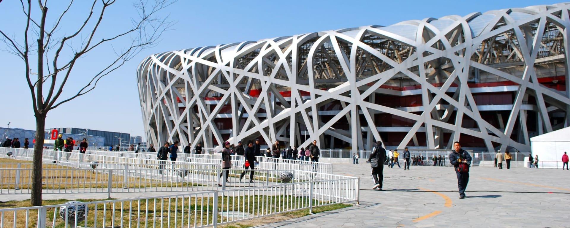 Glanzlichter Chinas mit dem Zug ab Peking: Beijing Olympia Stadion Bird's Nest