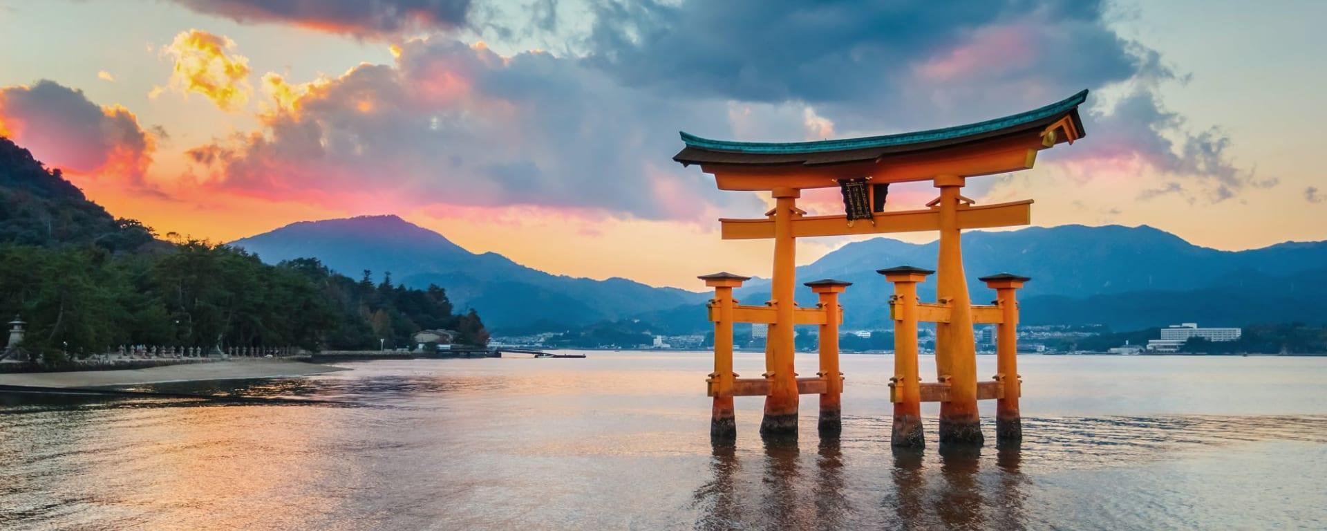 Circuit en groupe «Fuji» de Kyoto: Miyajima: Tori Itsukushima Schrein