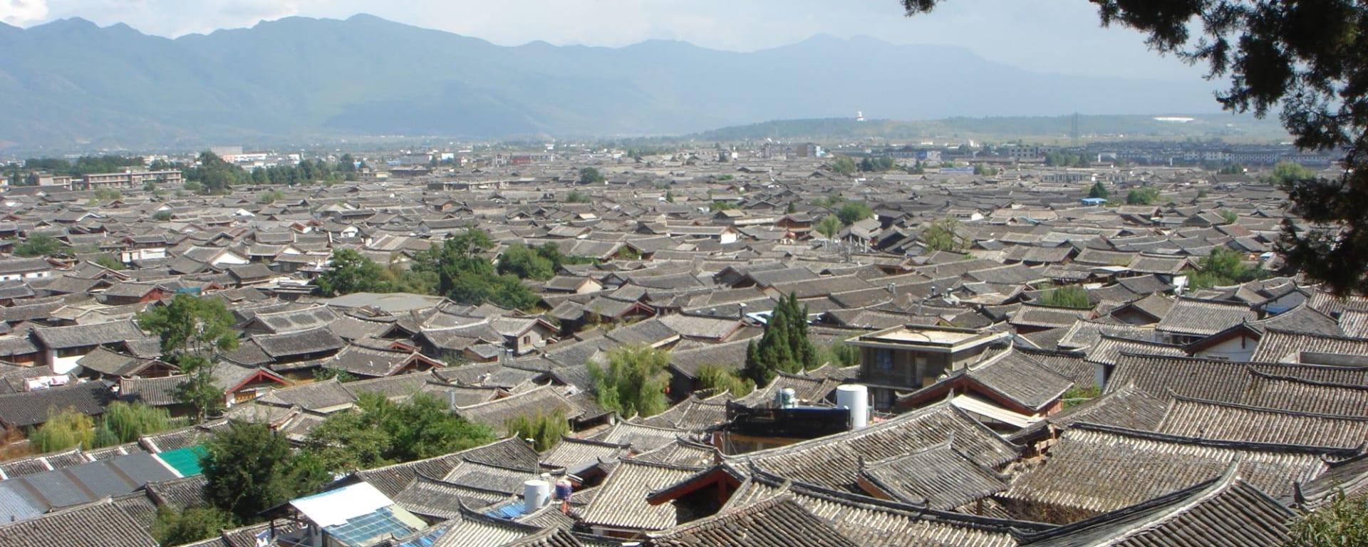 Les hauts lieux du Yunnan de Kunming: Lijiang: roof tops