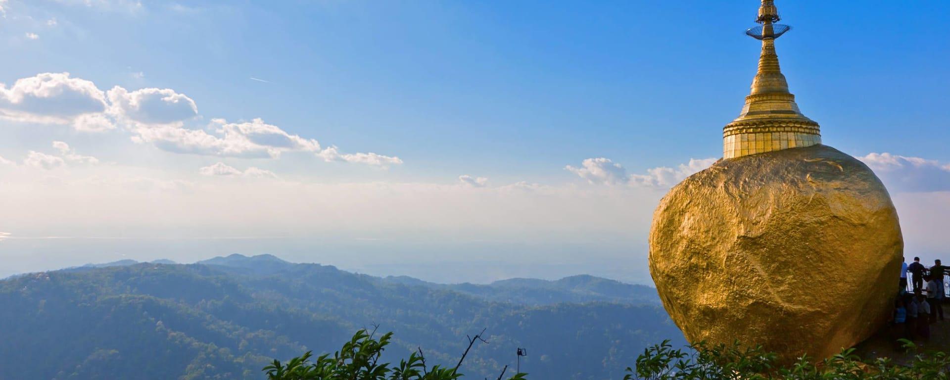 Der magische goldene Felsen ab Yangon: Golden Rock