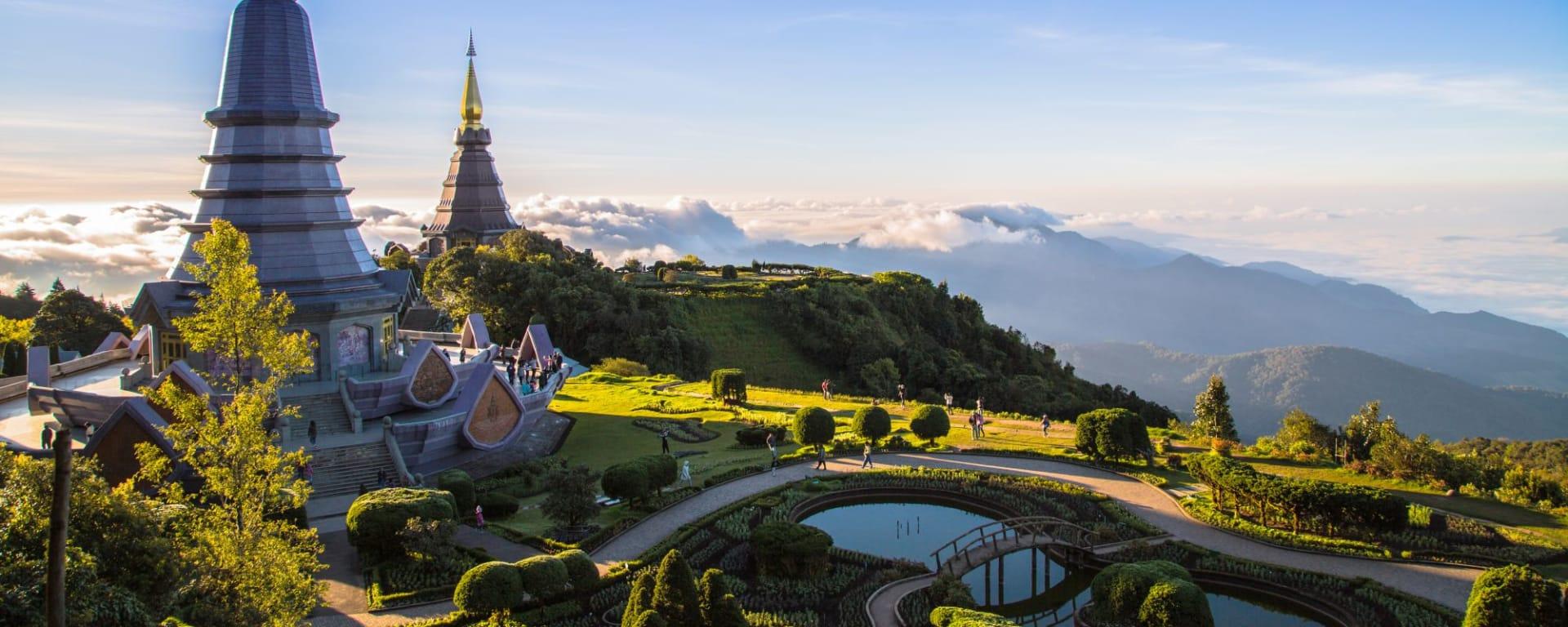 Circuit en voiture de location Mae Hong Son de Chiang Mai: Doi Inthanon temple
