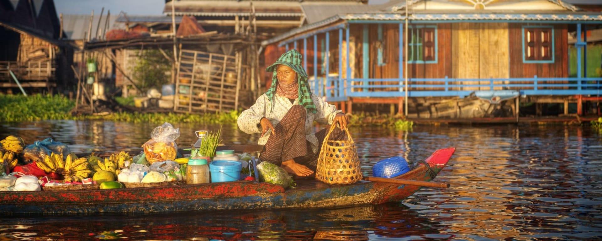 Les hauts lieux du Cambodge de Siem Reap: Sunset Tonle Sap