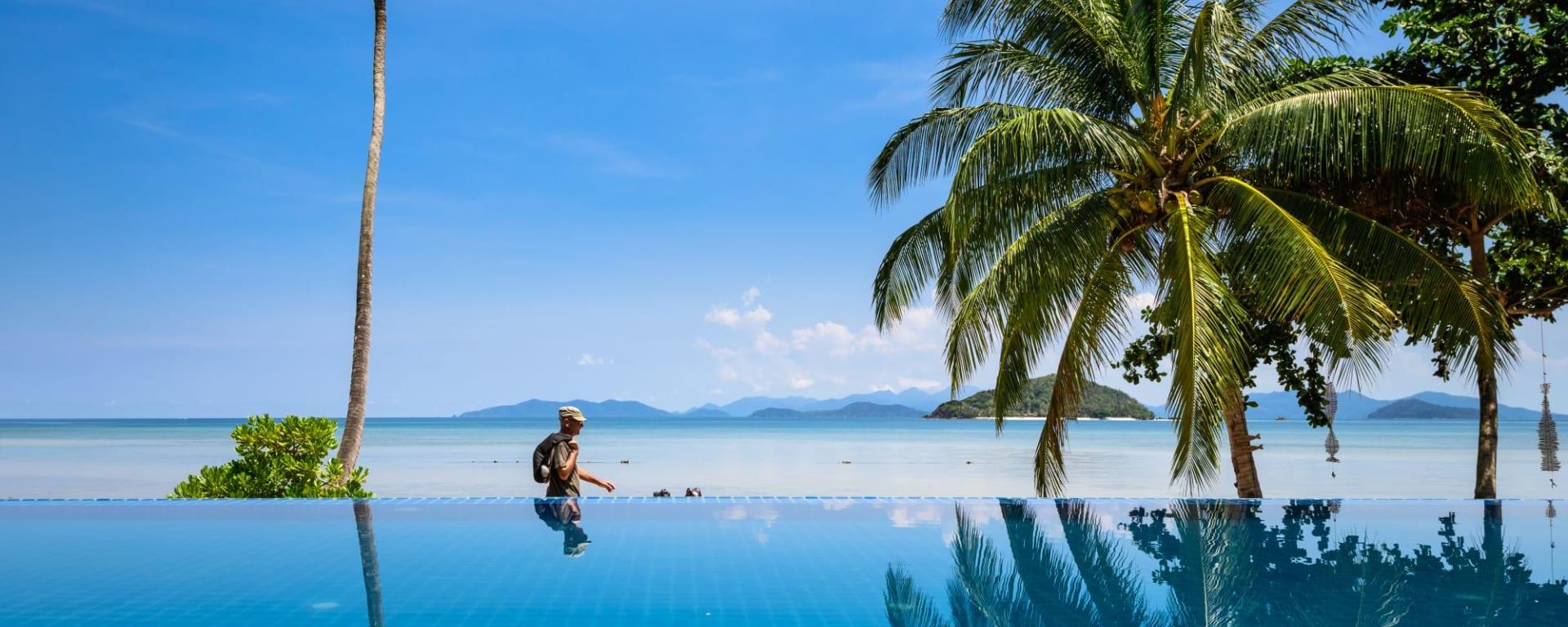D'île en île dans le golfe de Thaïlande en individuel de Ko Chang: pool: Pool at Seavana Resort