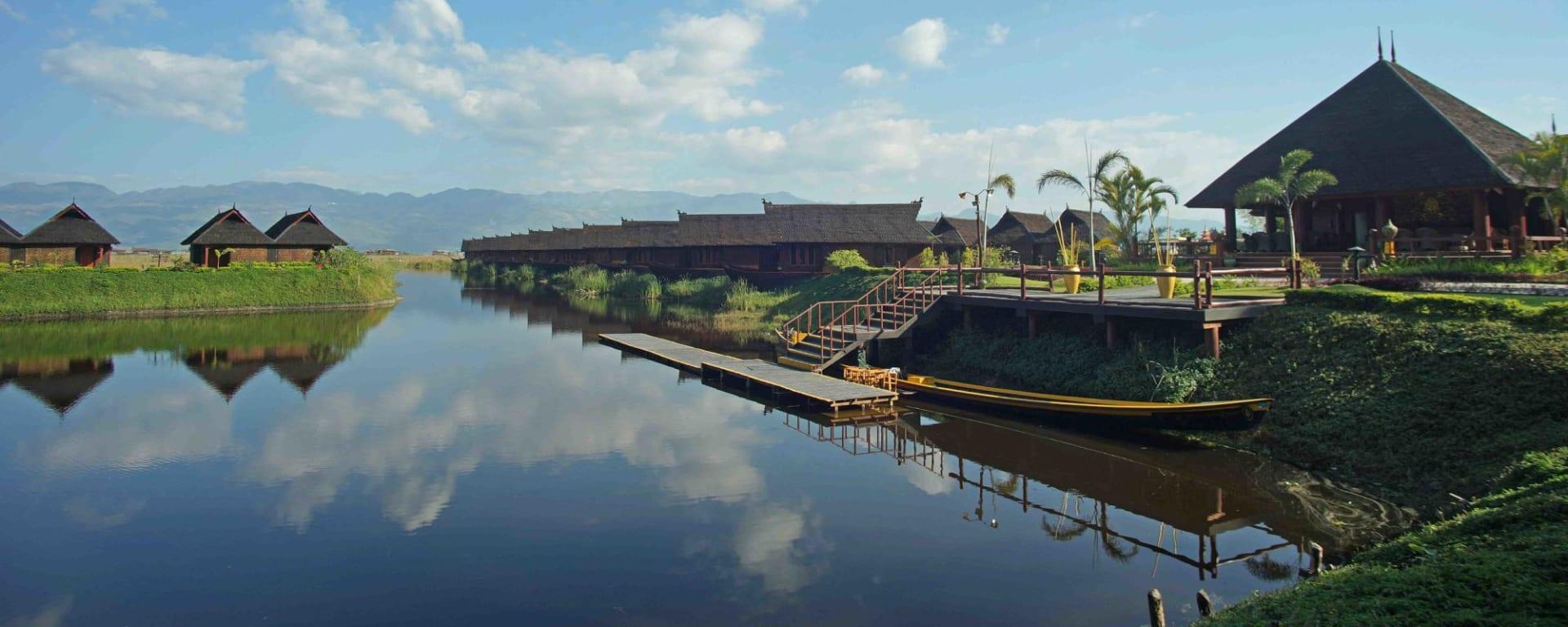 Pristine Lotus Resort in Inle Lake: Floating Duplex| Exterior