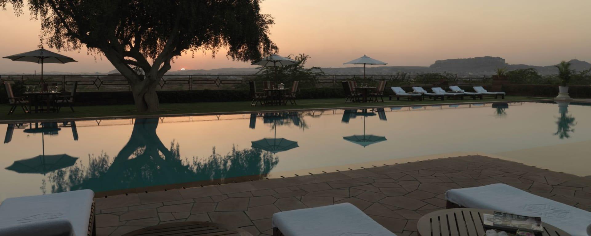 Umaid Bhawan Palace à Jodhpur: Swimmingpool