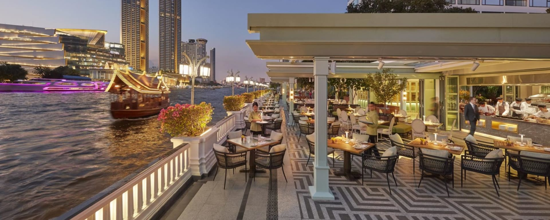 Mandarin Oriental à Bangkok: Riverside Terrace