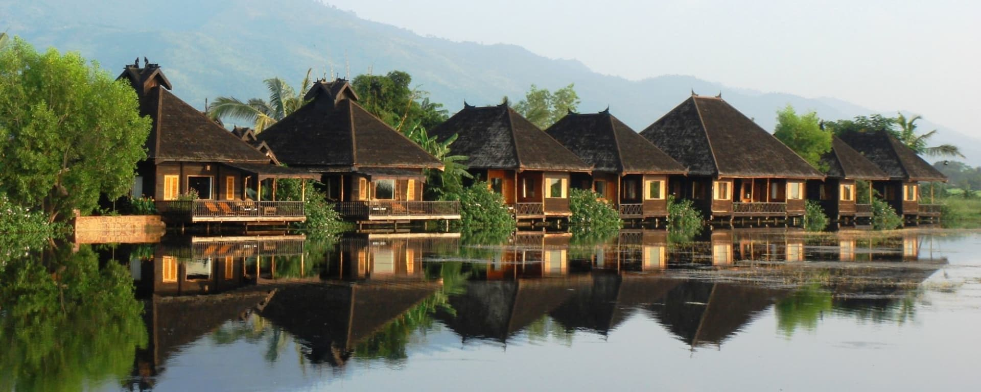 Inle Princess Resort in Inle Lake: Lake Front View Chalets