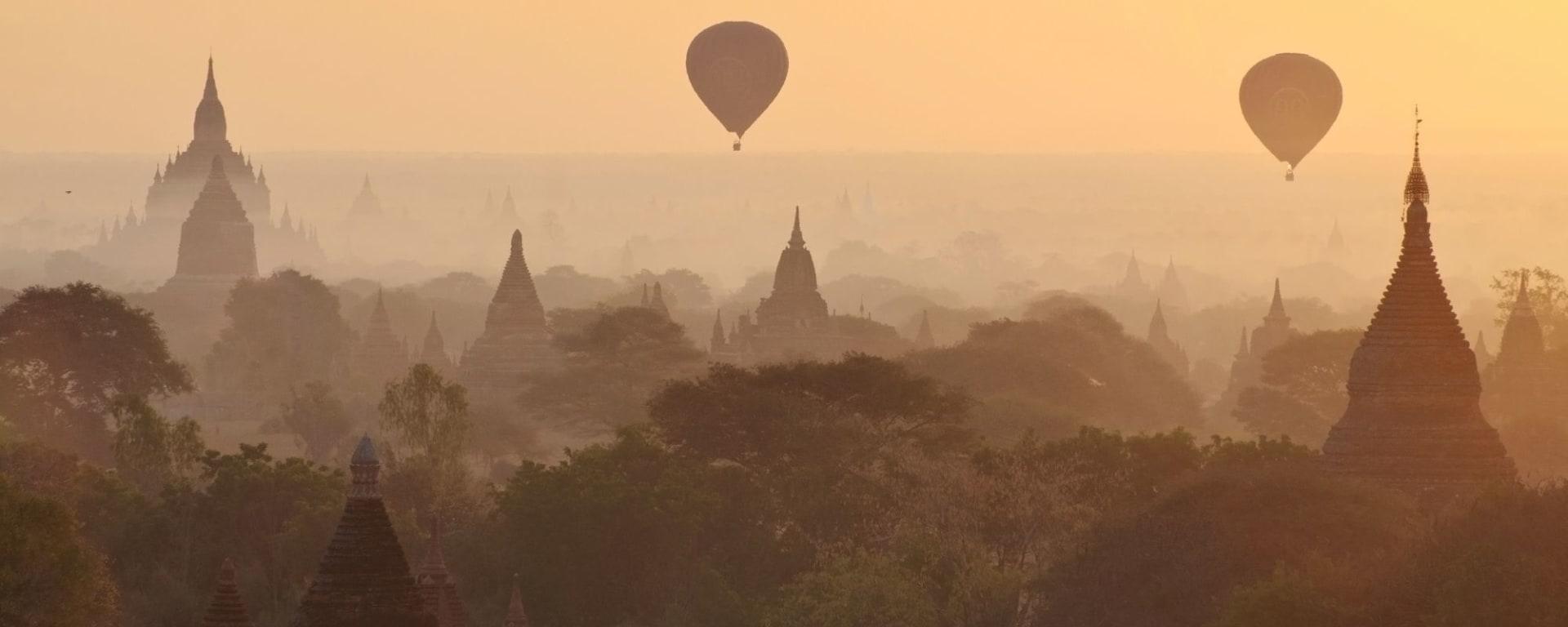 Wissenswertes zu Myanmar Reisen und Ferien: Bagan Ballon