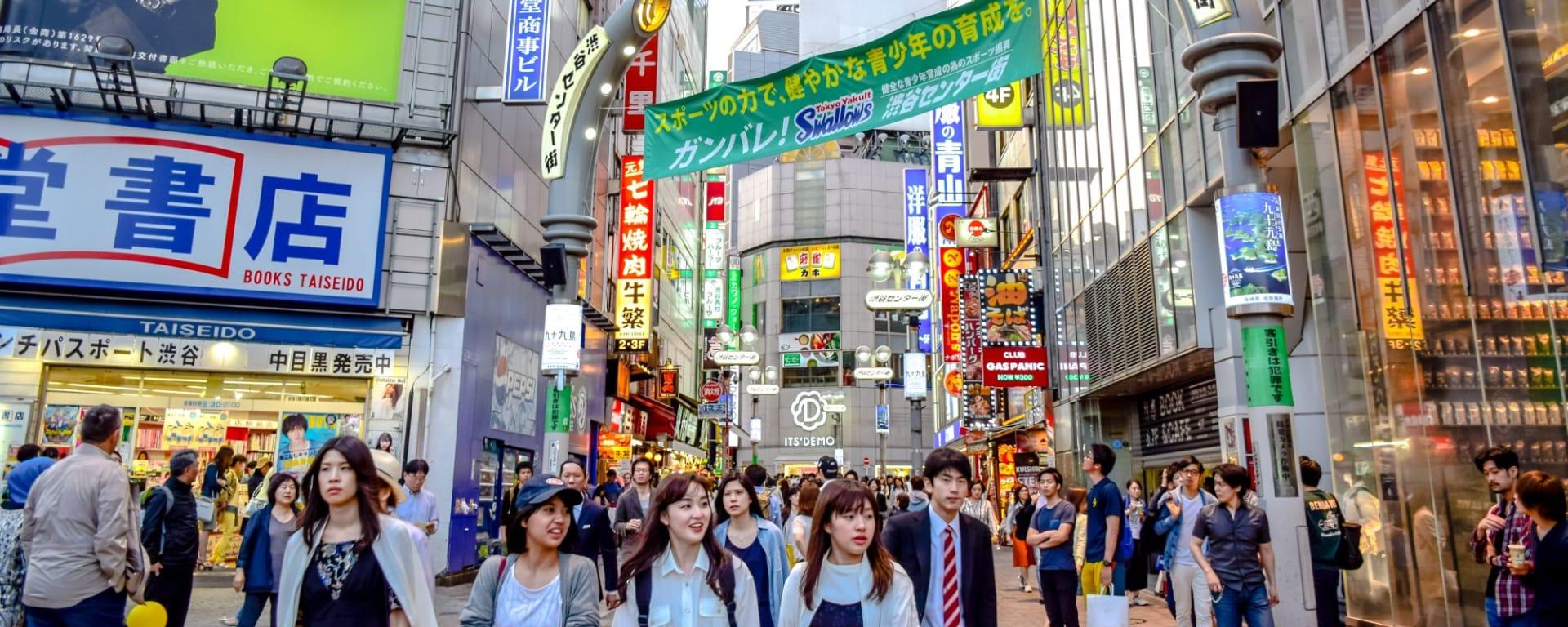 Wissenswertes zu Japan Reisen und Ferien: Tokyo Shibuya
