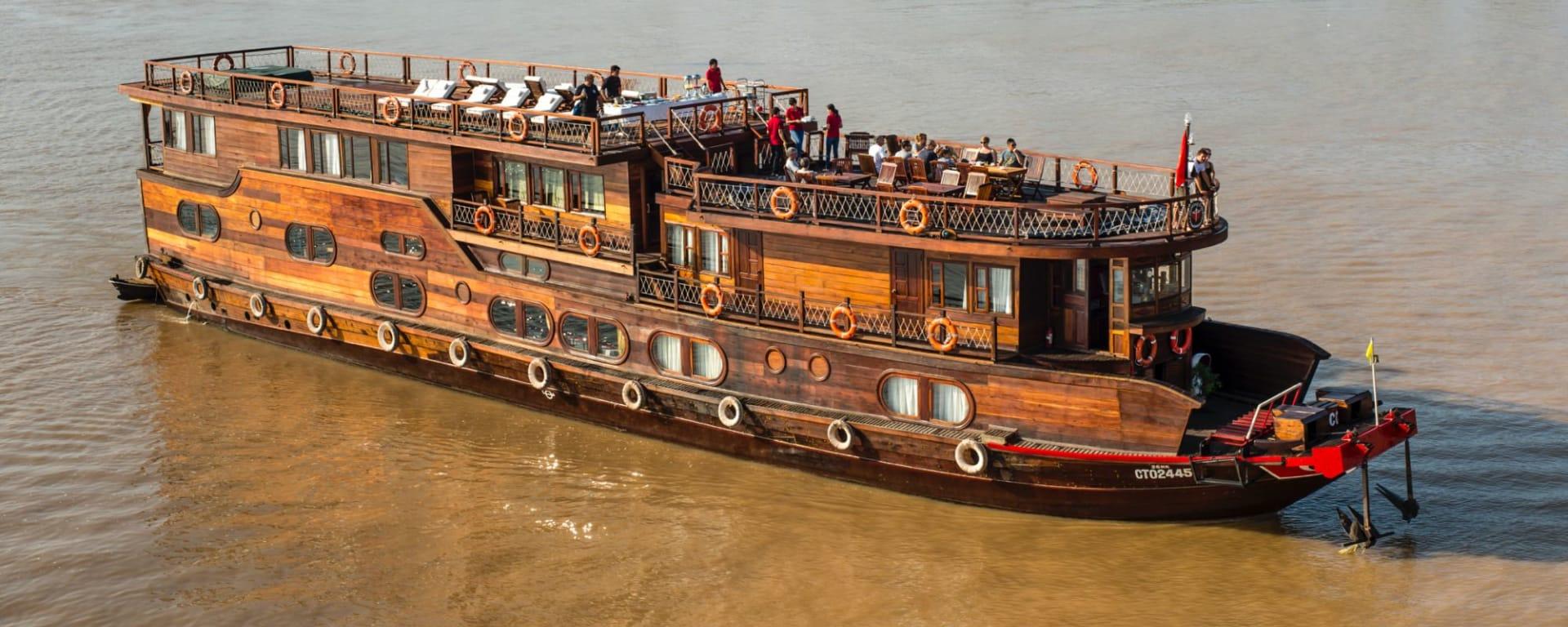 Mekong Delta Fluss-Kreuzfahrten mit «Mekong Eyes» ab Saigon: ME overview 3