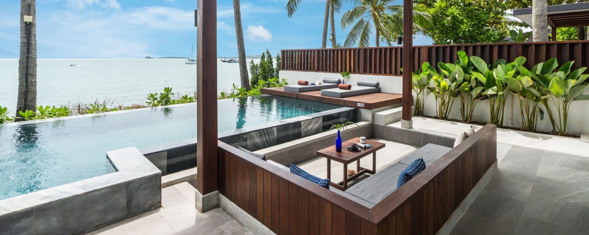 Peace Resort à Ko Samui: Beachfront Pool Villa