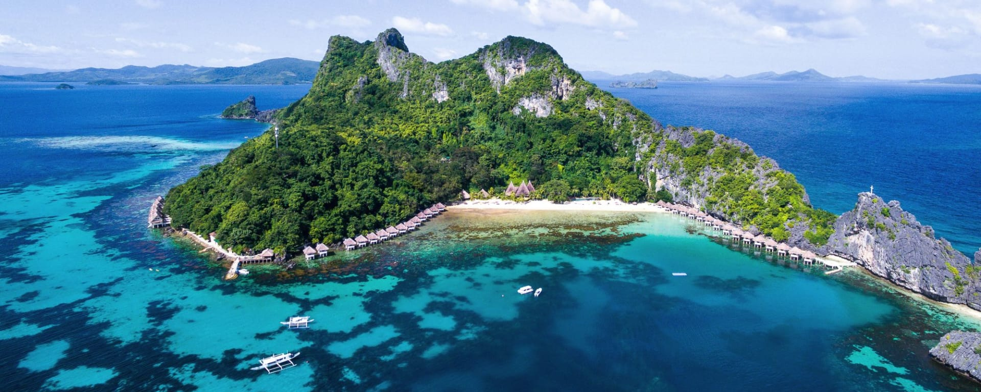 El Nido Resorts Apulit Island à Palawan: Birds eye view