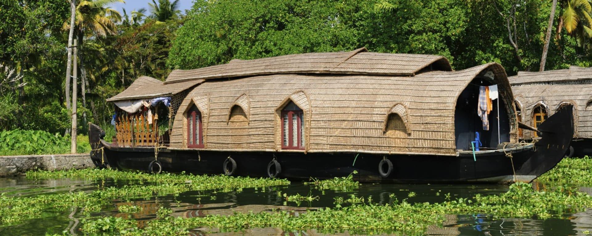 Backwaters von Kerala ab Kochi: Backwaters: House Boat