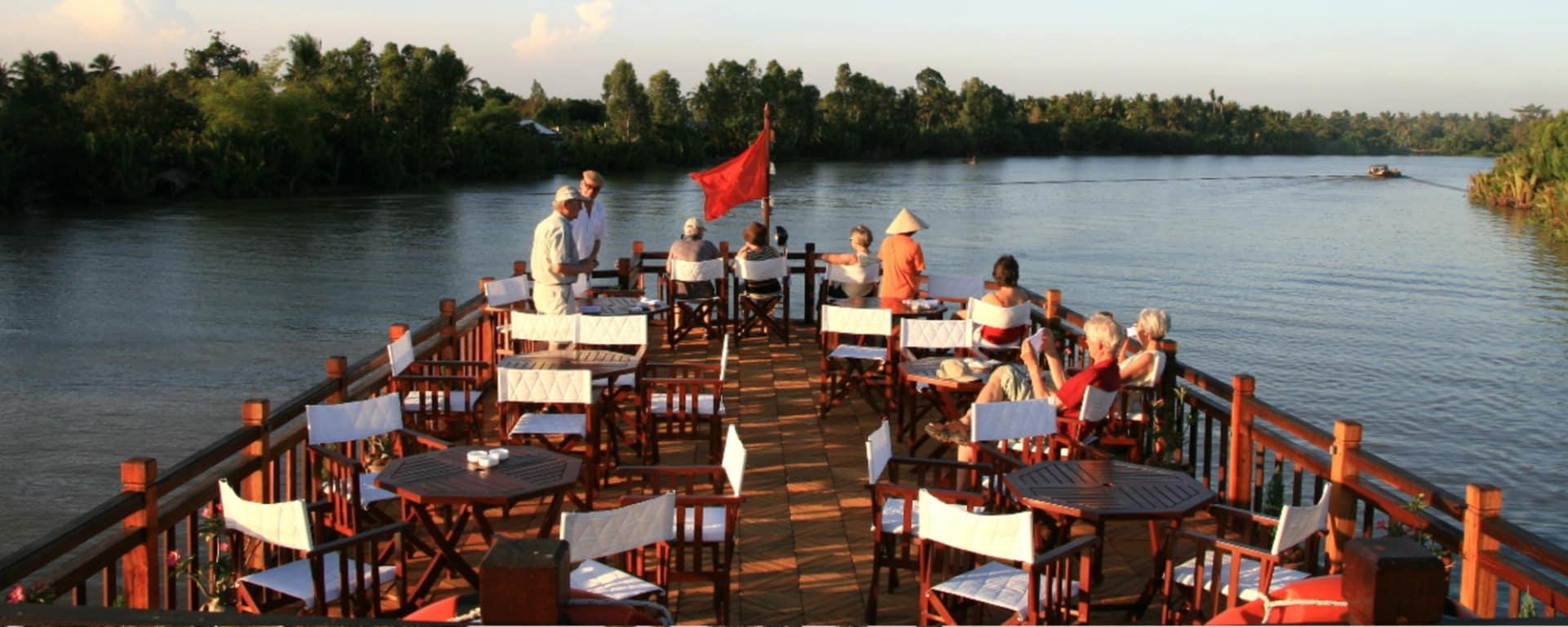 Mekong Delta Fluss-Kreuzfahrten mit «Mekong Eyes» ab Saigon: Upper deck
