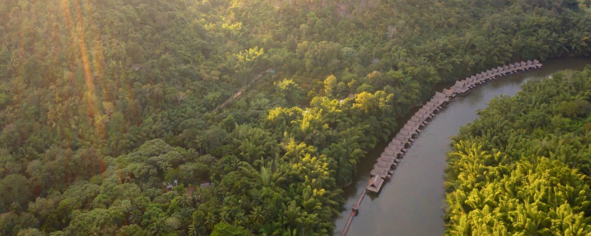 River Kwai Soft Adventure ab Bangkok: location: aerial view