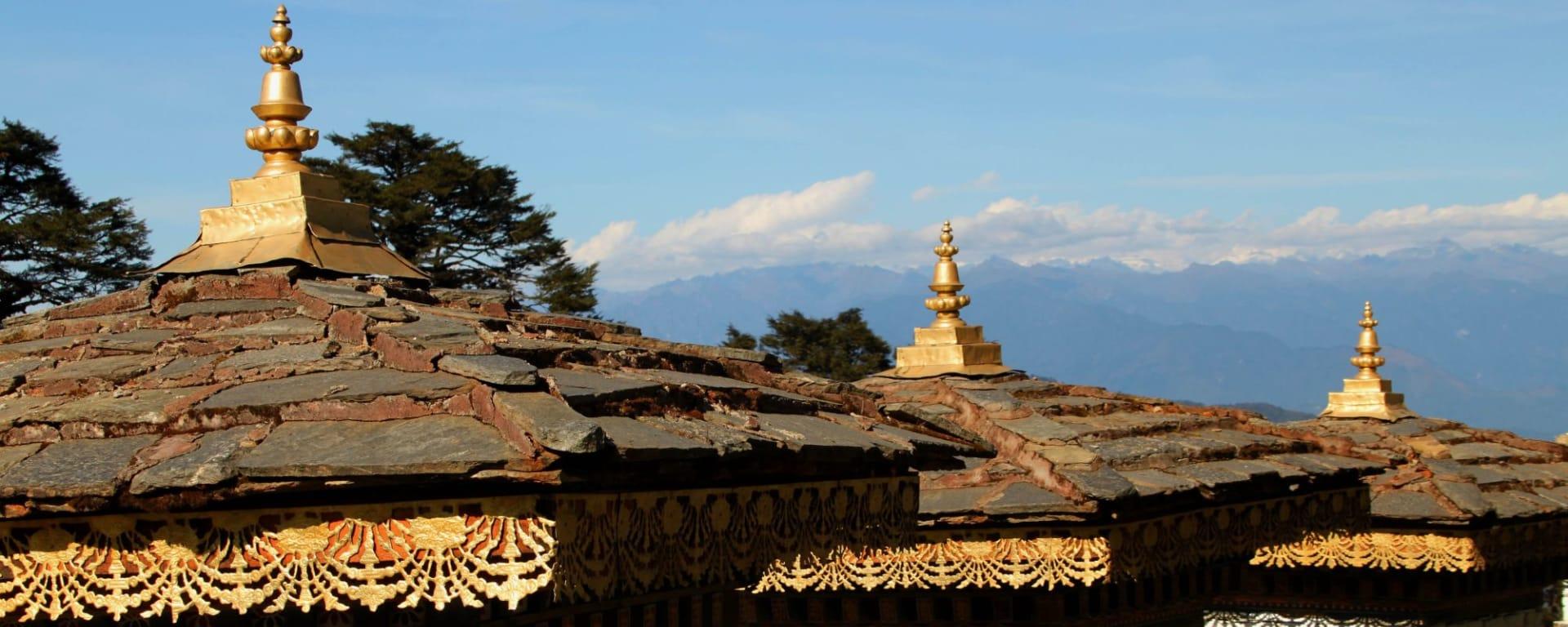 Découverte active du Bhoutan de Paro: Dochula Pass Chortens