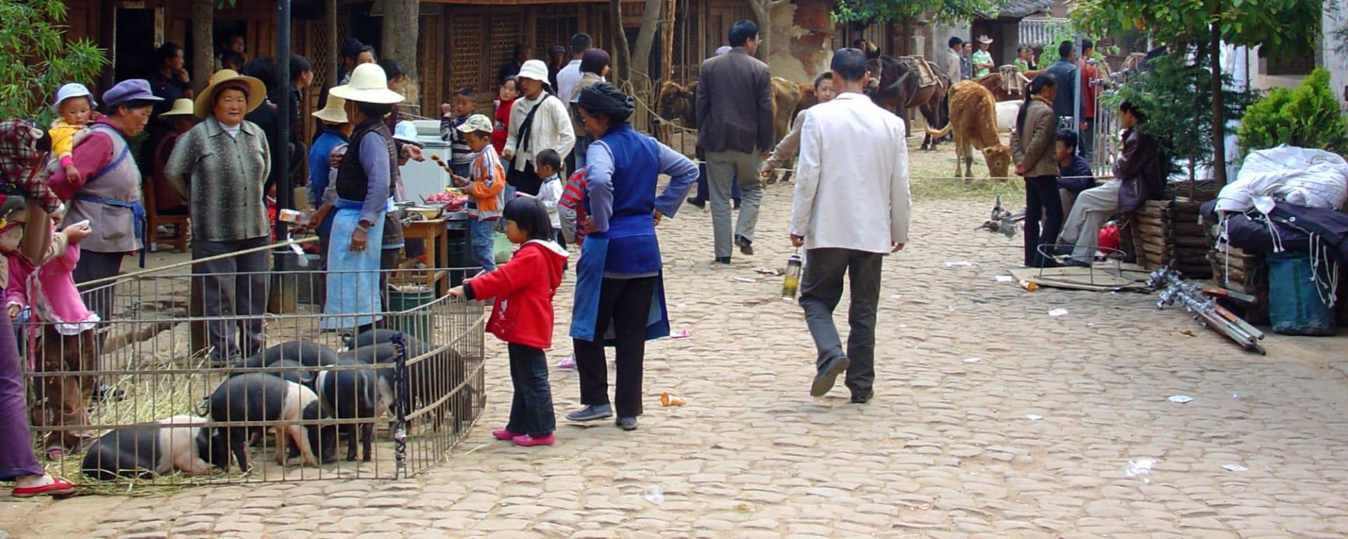 Découverte active du Yunnan de Kunming: Shaxi: Market