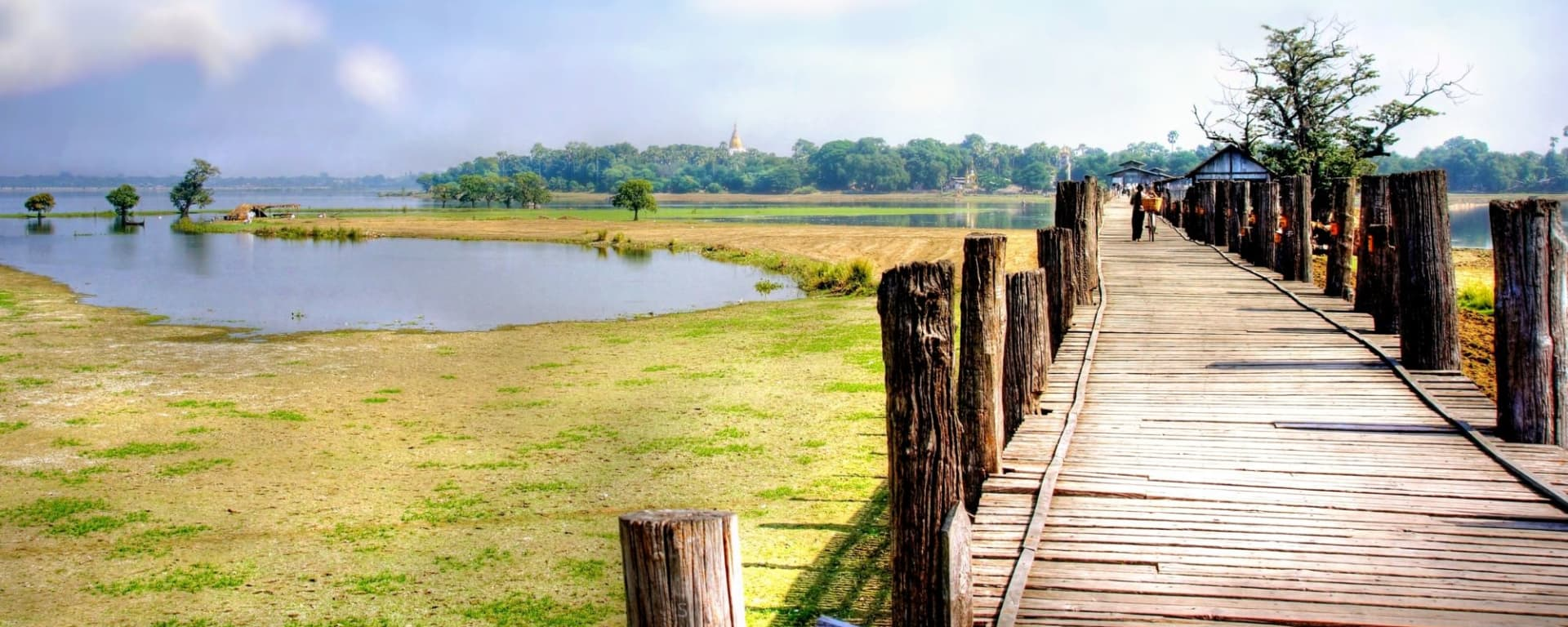 Voyages en Myanmar | Vacances en Asie par tourasia: Mandalay Amarapura U-Thein Bridge