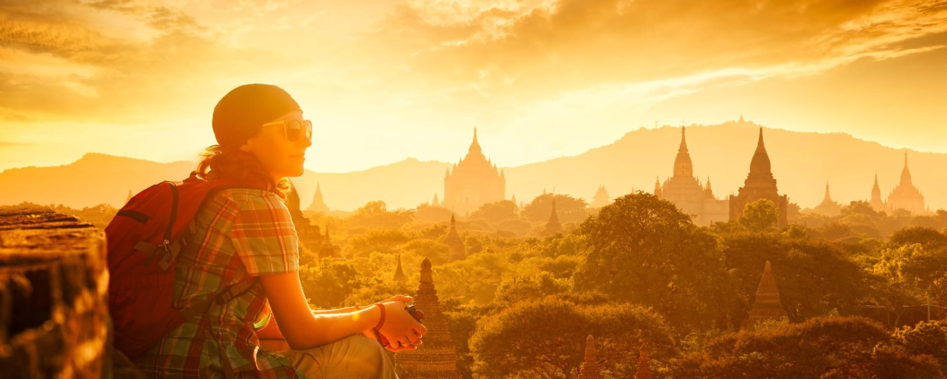 Découverte active du Myanmar de Yangon: Bagan Sunset with Traveller