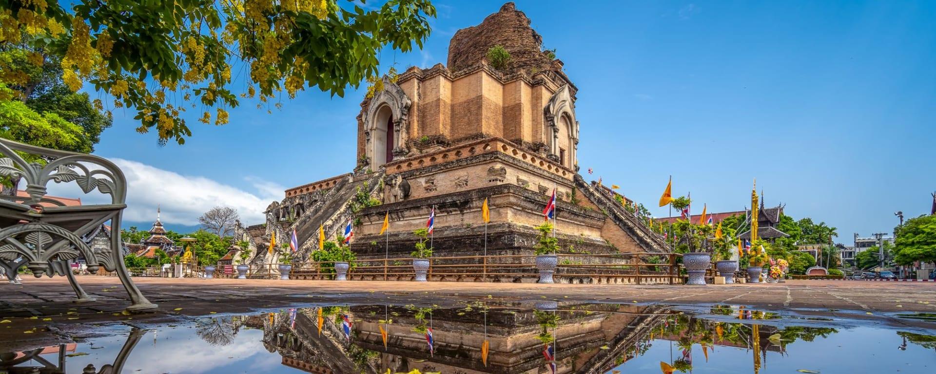 Les hauts lieux de la Thaïlande de Bangkok: Chiang Mai Wat Chedi Luang