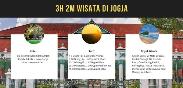 Paket Wisat Jogjakarta 3H2M