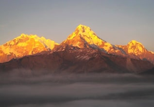 Sunny Poonhill; Golden Himalayas