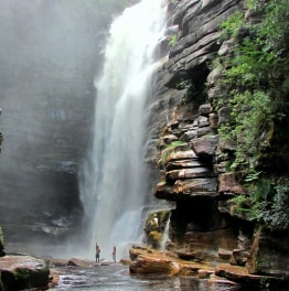 Gawk at the gleam of rock formations & waterfalls
